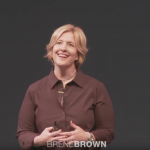 Brene Brown giving a TED talk about The Power of Vulnerability