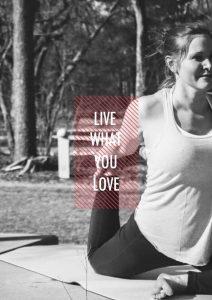 Yoga facilitator Anne Halleck stretching